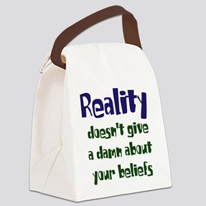 realitydoesnt dark Canvas Lunch Bag